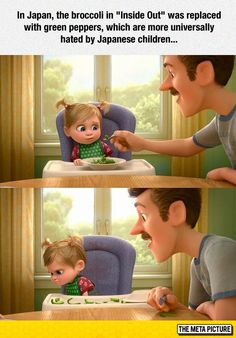 "Pixar Made A Small Tweak for Japan's Version of ""Inside Out"" Disney Pixar, Disney Facts, Disney And Dreamworks, Disney Love, Disney Magic, Walt Disney, Disney Stuff, La Route D'eldorado, Humor Disney"