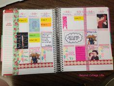 How I Organize My Erin Condren Life Planner Erin Condren Life Planner, Life Organization, Planners, Journals, Fans, Scrapbook, Colorful, How To Plan, Creative