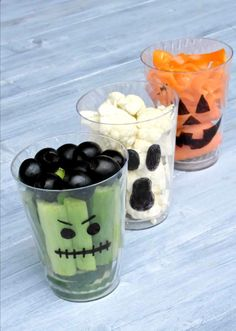 Halloween Vegetable Cups
