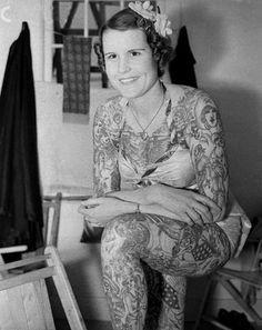 старинные каждый день: 39 великолепные старинные фотографии Татуированной дамы в конце 19 и начале 20 веков