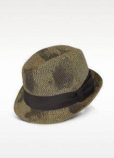 029de88f5f4 Paul Smith Men s Brown Vintage Braid Print Trilby Hat Pork Pie Hat