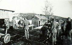 Värmland Eda kommun Koppom Järnskog Slärteg, 1940-tal, militären har kommit