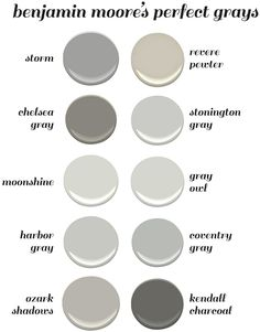 Benjamin Moore's Perfect Gray Paint Colors. Benjamin Moore Storm. Benjamin Moore…