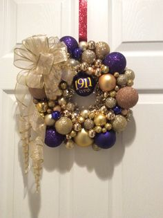 What a fitting and unique color combination. This wreath features a Representation of friendship which is essential to the soul. Want your line number added? No problem. Let us know in the comments. Additional customization (chapter name, line name, year, etc. ) can be added for a small fee (ranging $2-$3 and up depending on how many).  Although generally used during the Christmas holidays, a wreath is great for gifting year round. It would make a great housewarming gift. You hang them in…