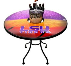 Do you watch every LSU Tigers game? Enjoy it around this customized table!