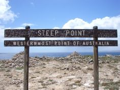 Steep Point, most western point on Mainland Australia - watch the whales, and throw in a fishing line to try your luck at catching some lunch :)