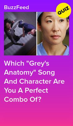 """Which """"Grey's Anatomy"""" Song And Character Are You A Perfect Combo Of? Greys Anatomy Songs, Greys Anatomy Couples, Greys Anatomy Facts, Greys Anatomy Characters, Grey Anatomy Quotes, Grey's Anatomy Quiz, Couples Quiz, Which Character Are You, Quizzes For Fun"""