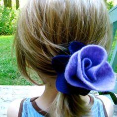 Felt Flower Hair Blossom - easy tutorial