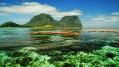 Coral Lagoon - Mt Lidgbird and Mt Gower, Lord Howe Island, Australia