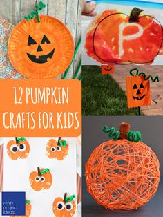 12 Simple Pumpkin Crafts For Kids At Craftprojectideas