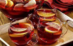 Herbata + syrop malinowy + rum