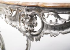 date unspecified A South German Rococo carved and silvered console table possibly Ansbach, mid-18th century  Estimate  20,000 — 30,000  USD. unsold