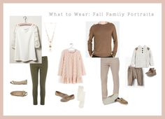 I love the fall tones with a pop of blush for family fall photos.