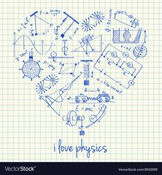 Illustration about Illustration of physics doodles in heart shape. Illustration of chemistry, hand, education - 33012517 Physics Poster, Physics Humor, Engineering Humor, Science Classroom, Teaching Science, Physics Formulas, Free Doodles, School Clipart, Space And Astronomy