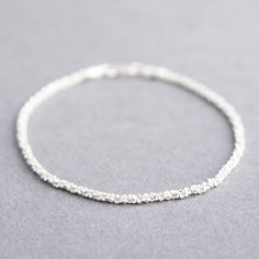 Tulip Jewellery   Sterling Silver Stardust Bracelet - a delicate way to sparkle in sterling silver £30.00