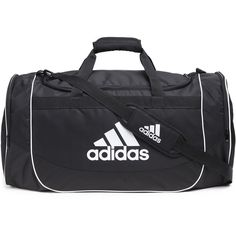 Adidas Defense Large Duffel (98 BRL) ❤ liked on Polyvore featuring bags and luggage