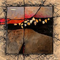 Gemstone 21 by Carol Nelson mixed media ~ 6 x 6