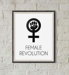 #Revolution for #Equality http://etsy.me/2kY6aD8 #Feminism #Feminist #Girl #Woman #Power #Empowering #Etsyshop #WallArt #HomeDecor #Printable #Quote #Inspirational #Motivational #Cheap #EtsyFinds #EtsyForAll #Stampe #Prints #Decor #EtsyHunter #etsyseller #art #black #instalove #instalike Wonderful Wall Art Designs to Brighten your Life!