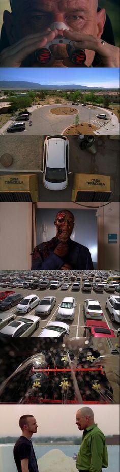 Breaking Bad (2008 - 2013) Season 4 Episode 12:  Face Off. -The Death of major villain Gus Fing.