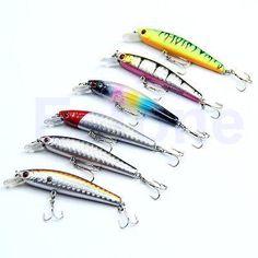 [Visit to Buy] 5pcs/lot 65mm 5g ST65 Fishing Lures Crankbait Crank Bait Tackle Treble Hook #Advertisement