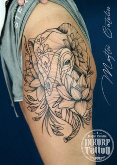 Elephant tattoo! Inkorp tattoo in Benidorm 💗