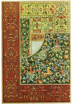 Scanned from the 1887 book by Heinrich Dolmetsch: 'The Treasury of Ornament´.