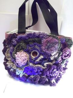 "Borsa CROCHET tecnica freeform "" LUXURY"""