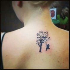 My tattoo done in Hanoi, Vietnam. Girl swinging in a tree.