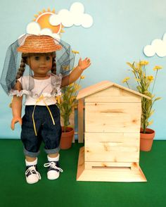 LEMON BAY DOLL BEEKEEPING COLLECTION For American Girl ®, 18-inch Dolls To Bee, or Not to Bee - its not even a question!   Bee-ing avid gardeners,