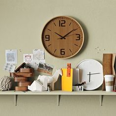 West Elm Wood Wall Clock. With the iPhone practically surgically implanted in my hand, I haven't owned a proper clock in a long time. $49.00