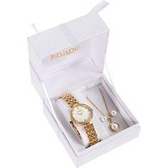 2a6391a57ce5a Rivado Geschenkset Damenuhr mit Kette und Ohrsteckern