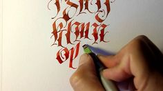 Parallel Pen Calligraphy - Lower Case