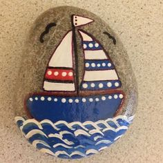 Photo from beyhanintaslari Rock Painting Patterns, Rock Painting Ideas Easy, Rock Painting Designs, Pebble Painting, Pebble Art, Stone Painting, Stone Crafts, Rock Crafts, Arts And Crafts