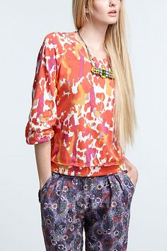 Chili Flower Tee #anthropologie  shirt!!!! necklace!!!!!