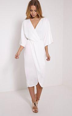 Archer Cream Cape Midi Dress