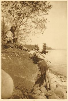 Ojibway Man and Woman by Roland W. Reed