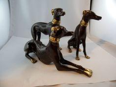 3 Hunde bronziert Messing