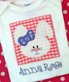 Applique Easter Bunny Rabbit Girls Short by BlumersEmbroidery, $20.00