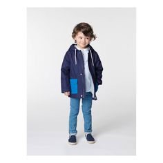 CARREMENT BEAU Contrasting Hooded Parka-product