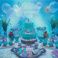 #mulpix Fundo do Mar | Painel: @trimidia. A foto da festa completa está no post anterior!!. Decor: @roberta.novis |Bolo: @confeitariasiriguela #dentrodafesta Mermaid Theme Birthday, Birthday Party Themes, 2nd Birthday, Little Mermaid Parties, Kids Party Decorations, Baby Party, First Birthdays, Party Time, Disney