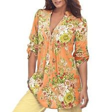 snowshine YLW Women Vintage Floral Print V-neck Tunic Tops Women's Fashion Plus Size Tops Modest Fashion, Fashion Outfits, Womens Fashion, Fashion Trends, Woman Outfits, Floral Tunic, Floral Tops, Floral Prints, Mode Simple