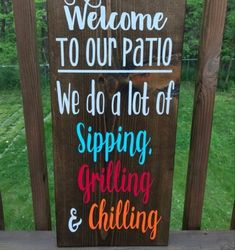 Backyard Signs, Patio Signs, Outdoor Signs, Porch Signs, Backyard Patio, Outdoor Ideas, Paradise Pools, Home Bar Signs, Distressed Wood Signs
