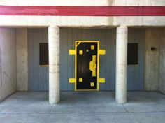 Catalyst Force Door mounted into a wall at Roseville FD Tower