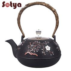 Japanese Cast Iron Teapot Tetsubin Plum Blossom 12L *** Read more  at the image link.Note:It is affiliate link to Amazon.