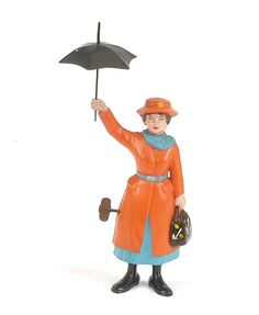 Marx Mary Poppins hard plastic clockwork character toy, copyright 1964, integral key, mechanism allows figure to twirl around on the spot.