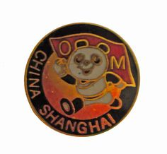 """SHANGHAI CHINA vintage lapel cloisonne enamel pin panda bear OM by VintageTrafficUSA  14.00 USD  A vintage Shanghai pin Excellent condition. Measures: approx 1"""" Add inspiration to your handbag tie jacket backpack hat or wall. Have some individuality = some flair! -------------------------------------------- SECOND ITEM SHIPS FREE IN USA!!! LOW SHIPPING OUTSIDE USA!! VISIT MY STORE FOR MORE ITEMS!!! http://ift.tt/1PTGYrG FOLLOW ME ON FACEBOOK FOR SALE CODES AND UPDATES! http://ift.tt/1P57awb…"""