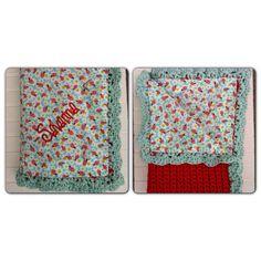 Crochet Reversible Baby Blanket, Crochet Baby Blanket, Purple Crochet Blanket