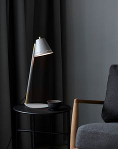 Pine is a decorative series in an industrial design that creates a nice contrast to the bright Nordic interior style. Pine gets a unique character and an innovative light experience with the small holes in the top and side of the shade, creating a beautiful effect when the light is spreading out into the room. #Living Room #Office #Interior Design #Inspiration #Décor Ideas #Nordic #Danish Design #Scandinavian #Modern #Industrial #Table Lamp Desk Lamp #Lighting Nordic Home, Nordic Interior, Interior Styling, Interior Design, Nordic Design, Scandinavian Design, Desk Lamp, Table Lamp, Light Table