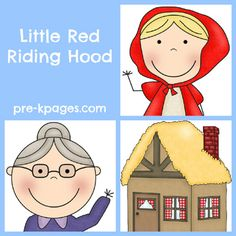 Little Red Riding Hood Activities for Preschool and Kindergarten via www.pre-kpages.com - I used the free printable, laminated it and put magnets on the back.  Red Riding Hood on our fridge.