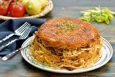 Iranian-Style Crusty Baked Pasta with Beef Ragu (macaroni/makaroni)